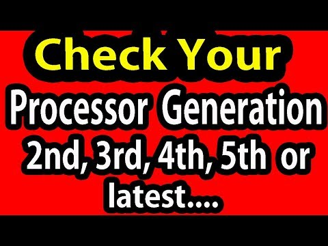 How To check Your intel Processor Generation  in hindi |urdu||  laptop generation in windows 10