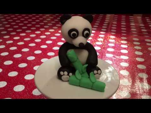 How to make a fondant panda cake topper