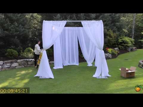 Wedding Canopy - Georgia Expo Pipe and Drape: Creating a Wedding Canopy Using Pipe and Drape