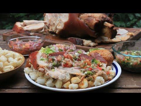 Cuisse de porc rôti hornado de chancho