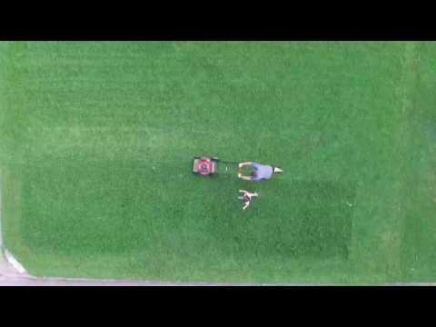 DJI Phantom 3 Standard Flying Video While Mowing The Lawn