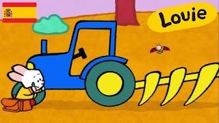 Tractor - Louie dibujame un tractor | Dibujos animados para niños