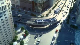 Idea of future transportation - Straddling Bus in China