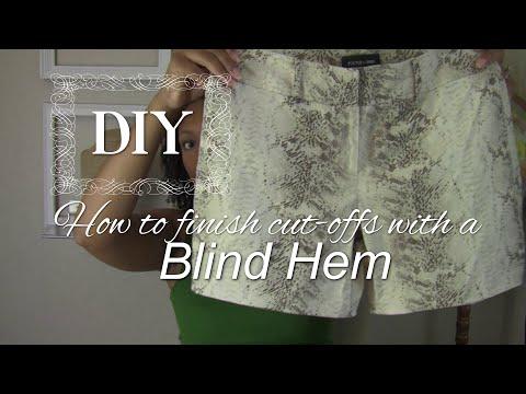 DIY: How to hem shorts/pants/skirts using a blind hem