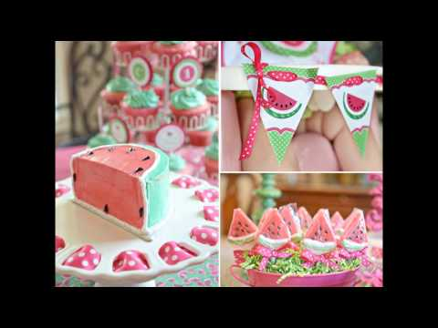 Girl 1st birthday party themes decorations ideas