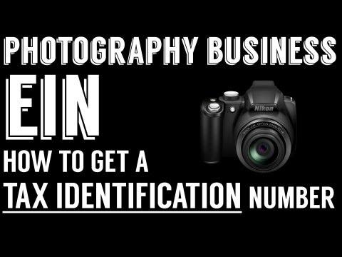 Getting an EIN - Start a Photography Business - Tax