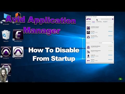 How To Disable The Avid Application Manager From Startup