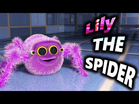 LILY THE SPIDER - Lucas The Spider's Sister - GIANT plush SPIDER introduction - ANIMATION