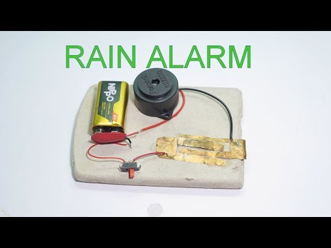 How to make a rain detector with alarm