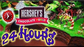 24 HOUR OVERNIGHT in HERSHEY CHOCOLATE FACTORY | LOCKED IN CHOCOLATE WORLD OVERNIGHT CHALLENGE 😱