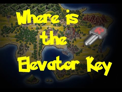 Where Is: The Elevator Key (Pokemon Fire Red/Leaf Green)