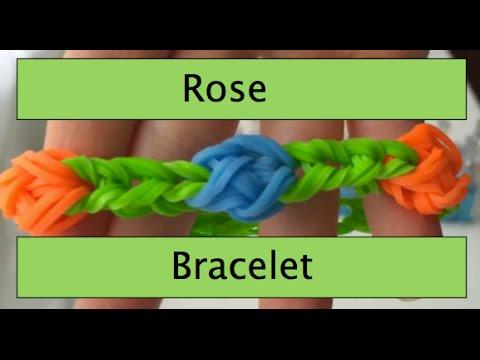 How To Make A Rainbow Loom Rose Bracelet - Medium