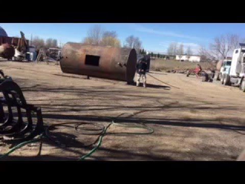 How to cut open a fuel tank