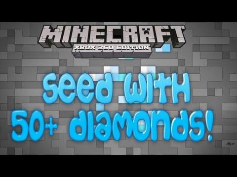 Minecraft Xbox 360 Seeds - 50 DIAMONDS, Massive Abandoned Mineshaft, Flatland (