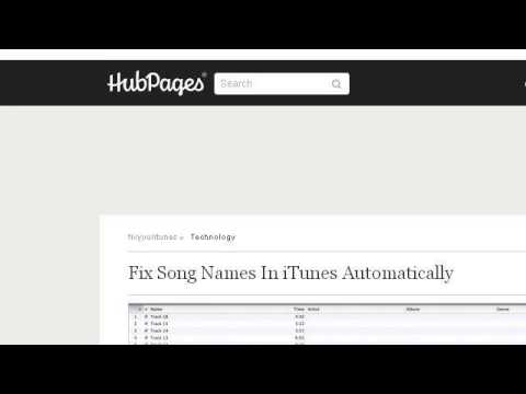 How-To Correct Itunes Song Titles