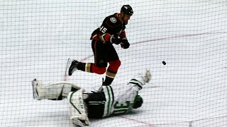 Getzlaf takes own Hail Mary pass, chips puck past Bishop, scores