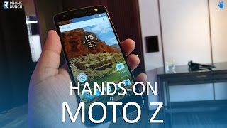 Moto Z (India) Hands-on Overview with MotoMods