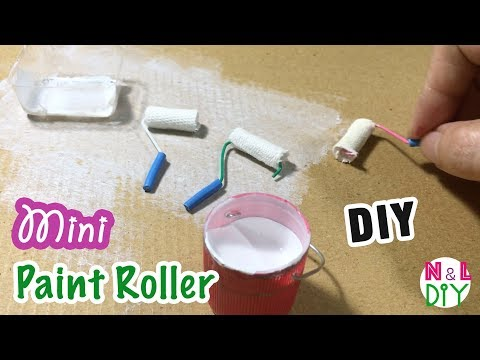 DIY Miniature Paint Roller for Dollhouse | How to make Paint Roller for Dollhouse
