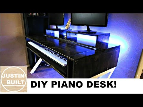 Home Studio Desk with Piano Shelf!