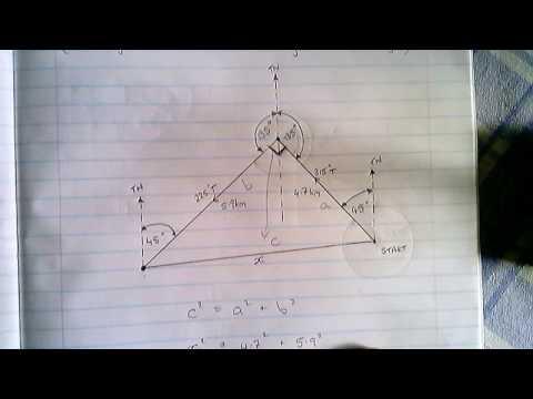 Pythagoras - Bearings (Example 7)