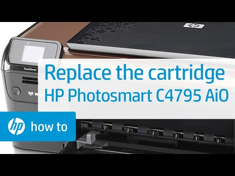 Replacing a Cartridge - HP Photosmart C4795 All-in-One Printer