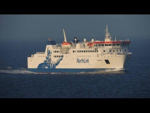 Northlink ferry Hamnavoe inbound at Scrabster