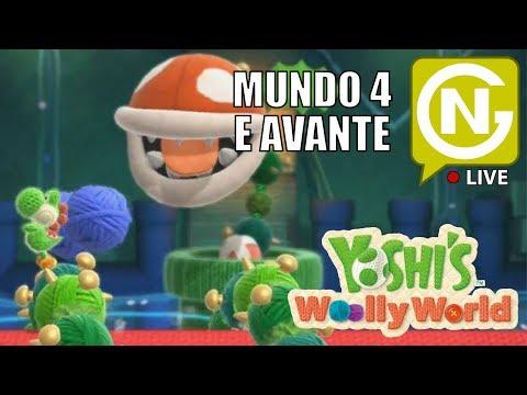 Mundo 4 e avante em coop, vem com a gente! | Yoshi Woolly World Coop #3
