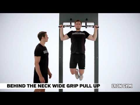 Behind the Neck Wide Grip Pull Up - IRON GYM® Training Academy
