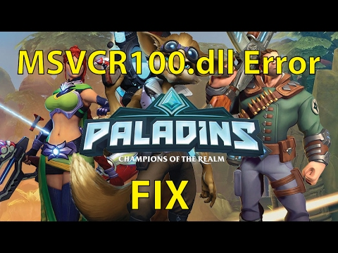 How to Fix Paladins Error MSVCR100.dll Is Missing - WORKS 100%!