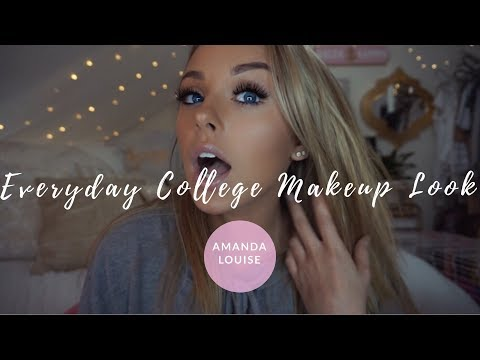 Everyday College Makeup Look ll Amanda Louise