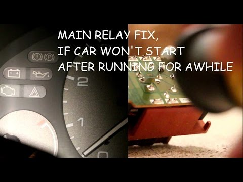Honda accord does not start if engine is warm, how to fix main relay