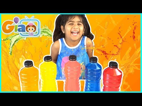 Learn Color with Powerade Finger Family Nursery Rhyme