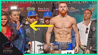 #CaneloGGG Did Canelo Alvarez cheat in the Weigh In? (Canelo vs Golovkin)