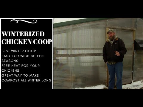 Cold weather chicken coop -How to  winterized your coop/ heat your run/coop for free or low cost