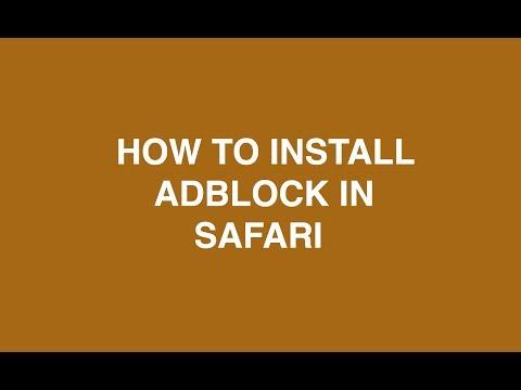 How to install Adblock on Safari [MAC SIERRA] [2018]