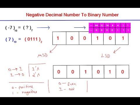 Convert Negative Decimal To Binary Number - Conversion In Hindi | By Nirbhay Kaushik