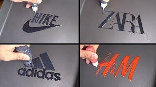 Brand Logos Pancake art - Nike, Zara, Adidas, H&M
