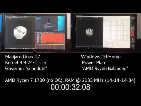 Windows vs. Linux - AMD Ryzen 7 1700 Blender Benchmark