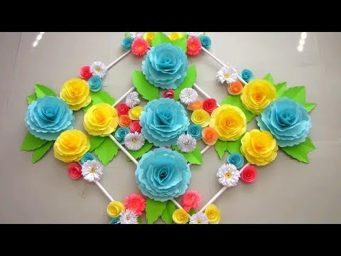 DIY. Simple Home Decor. Wall Decoration. Hanging Flower. Paper Craft Ideas #18