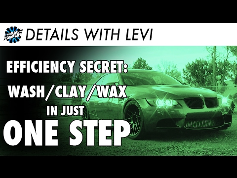 AMAZING Detail Trick: How To Wash Then Clay & Wax In Just One Step!