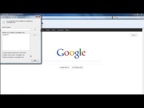 How to work with Internet Explorer Compatibility View