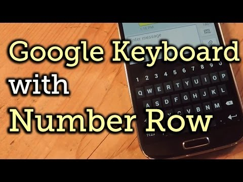 Add a Number Row to Your Google Keyboard - Android 4.0+ [How-To]