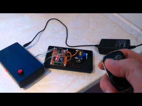 Arduino RF 433Mhz + servo + universal remote
