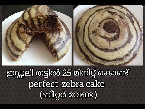 Zebra Cake || Zebra Cake without Oven Recipe In Malayalam / No. 113