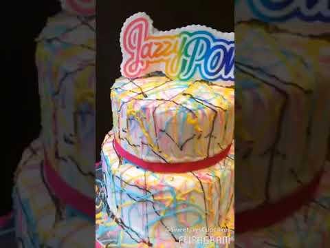 80s Themed Cake