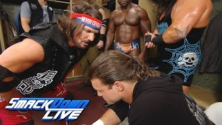 Dolph Ziggler attacks a loudmouth AJ Styles backstage: SmackDown Live, Aug. 23, 2016