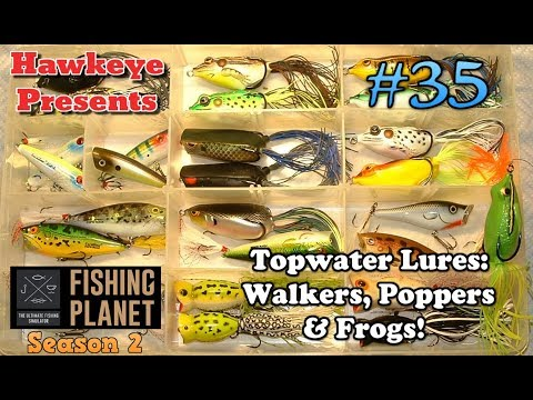 Fishing Planet S2 - Topwater Lures: Walkers, Poppers, & Frogs!