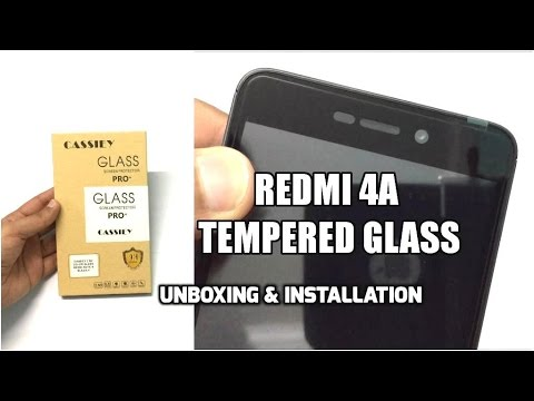 Cassiey Redmi 4A Tempered Glass Unboxing & Installation (INDIA).