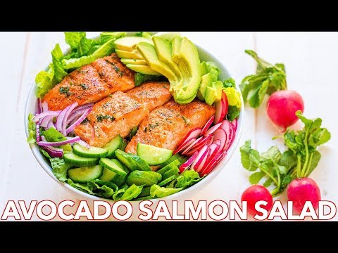 Avocado Salmon Salad Recipe