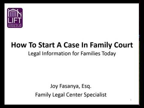 How to Start a Case in New York Family Court
